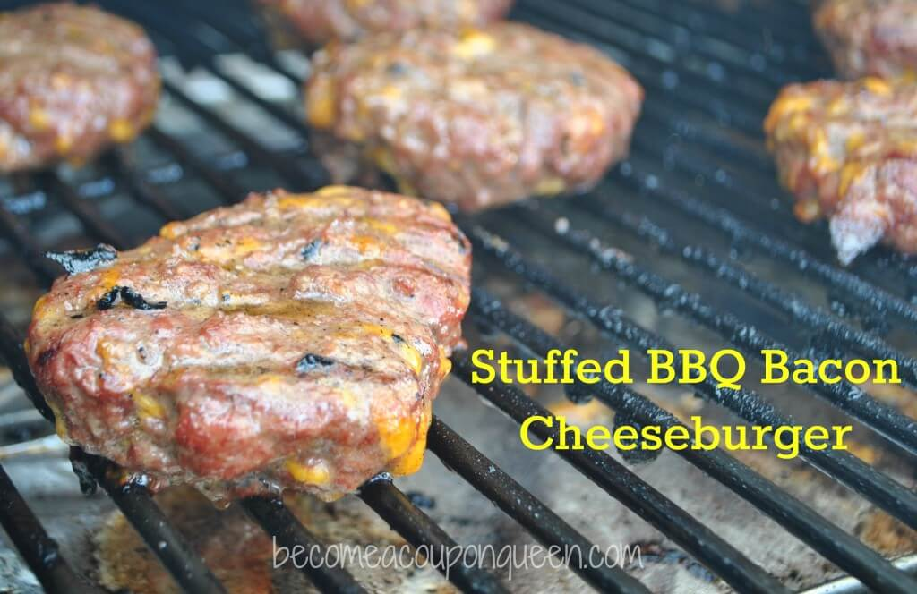 Stuffed BBQ Bacon Cheeseburger Recipe from Becoming a Coupon Queen