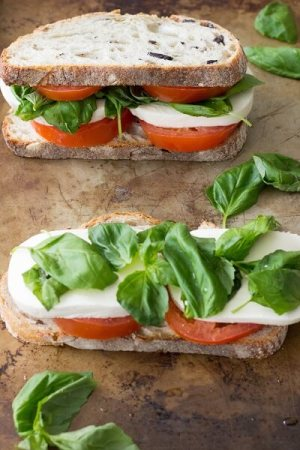 Caprese Sandwich from Eat. Thrive. Grow.