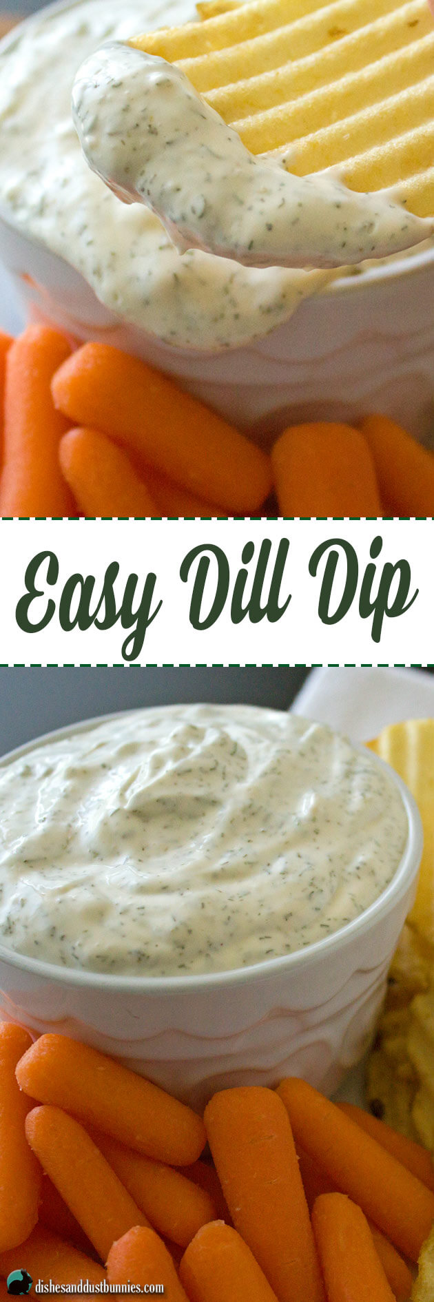 Easy Dill Dip from dishesanddustbunnies.com