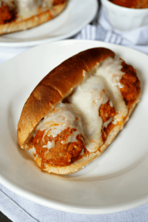 Cheesy Meatball Subs from The Baking Fairy