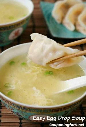 Easy Egg Drop Soup from Couponing for 4