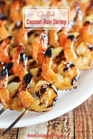 Coconut-Rum Grilled Shrimp Recipe from Home Cooking Memories