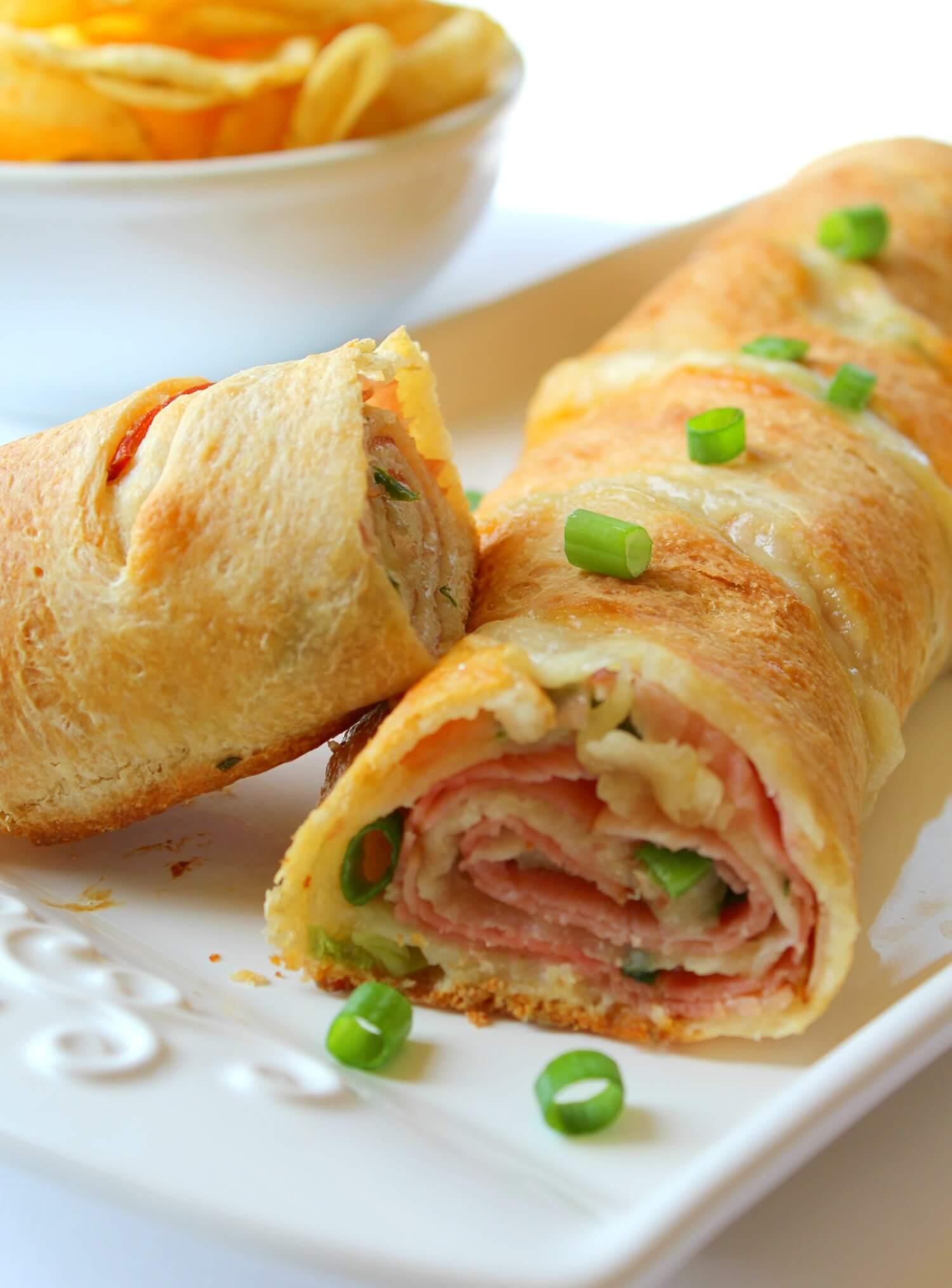 Ham & Swiss Stromboli from The Shirley Journey