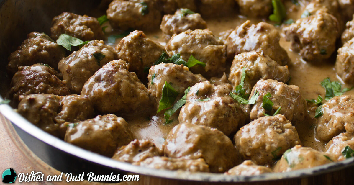 Swedish Meatballs Recipe from dishesanddustbunnies.com