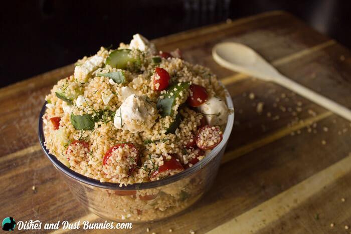 Couscous Salad from dishesanddustbunnies.com