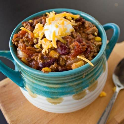 Hearty Slow Cooker Chili from Dishes & Dust Bunnies