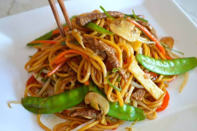 Beef Lo Mein from The Woks of Life
