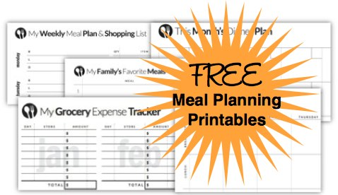 Free Menu Planning Templates from Savings Lifestyle