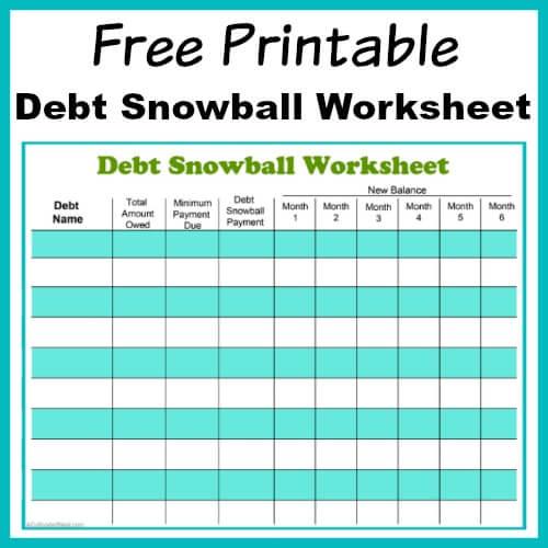 Soft image with regard to free printable debt snowball worksheet