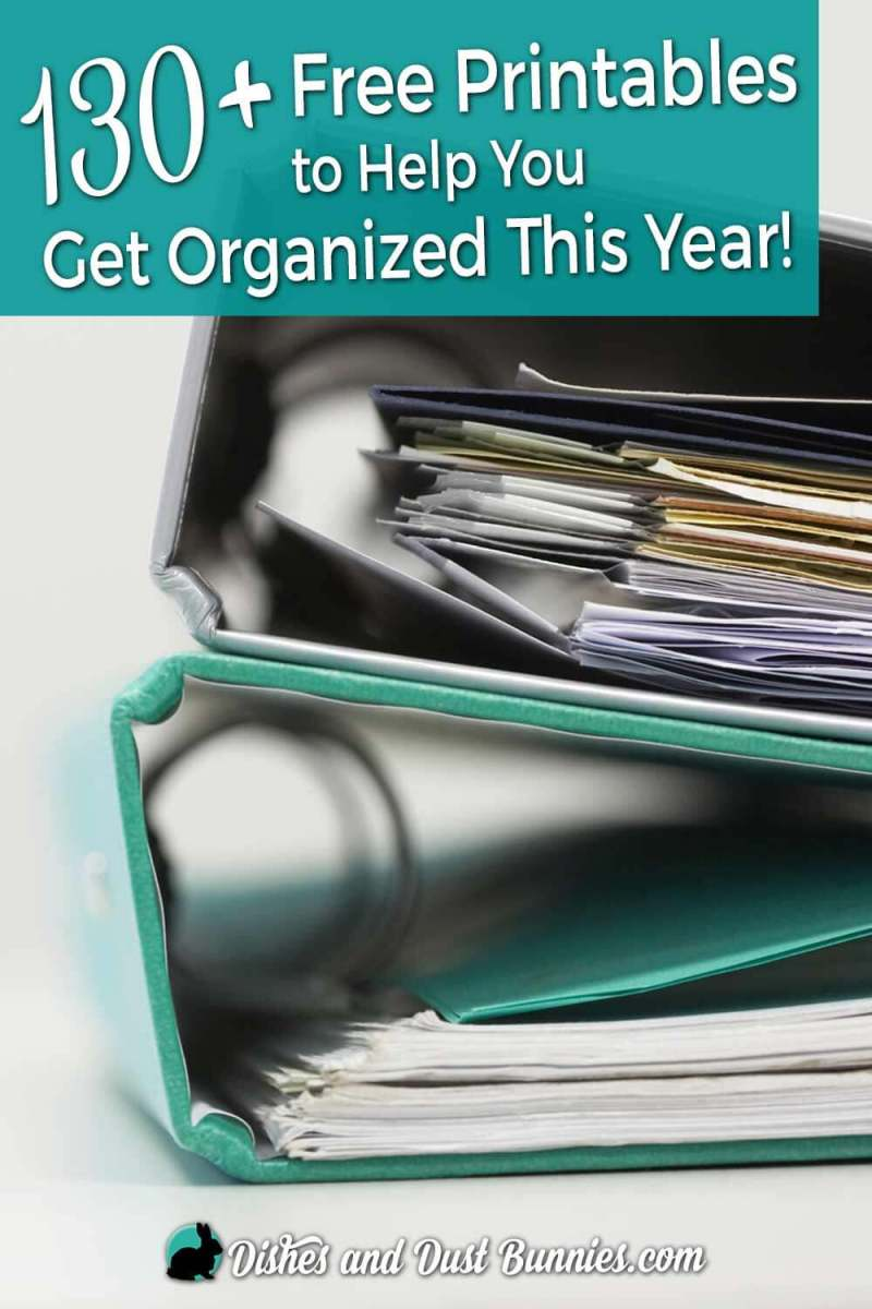 130+ Free Printables to Help You Get Organized This Year! from dishesanddustbunnies.com