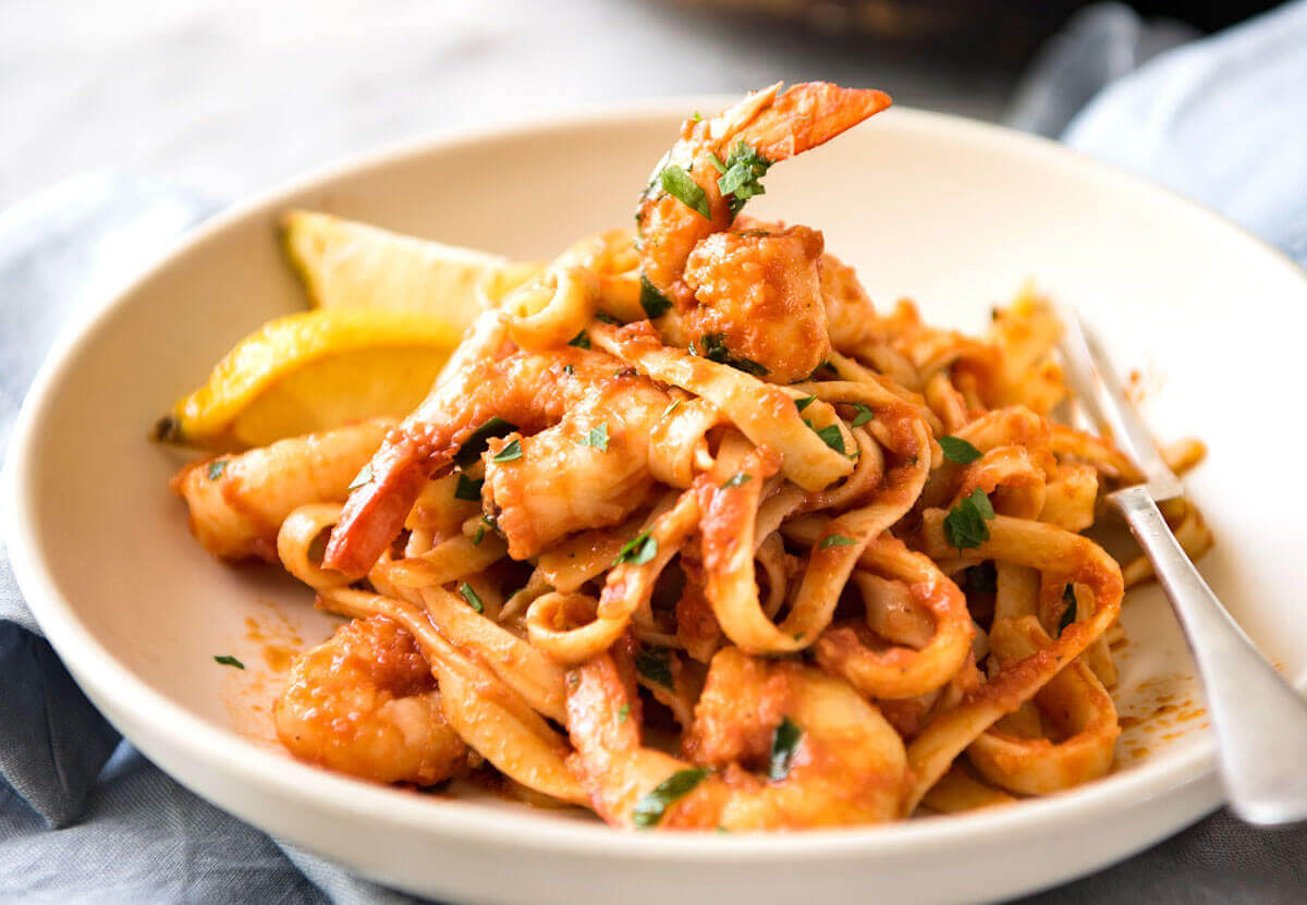 Spicy Chilli Prawn Pasta