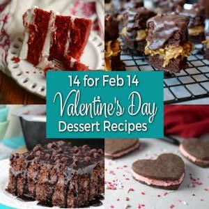 14 for Feb 14 - Valentine's Day Dessert Recipes from dishesanddustbunnies.com