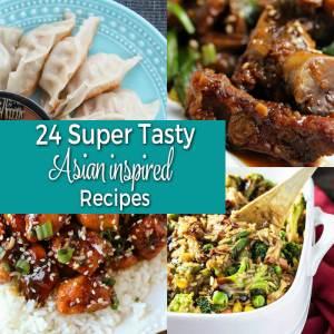 24 Super Tasty Asian Inspired Recipes from dishesanddustbunnies.com