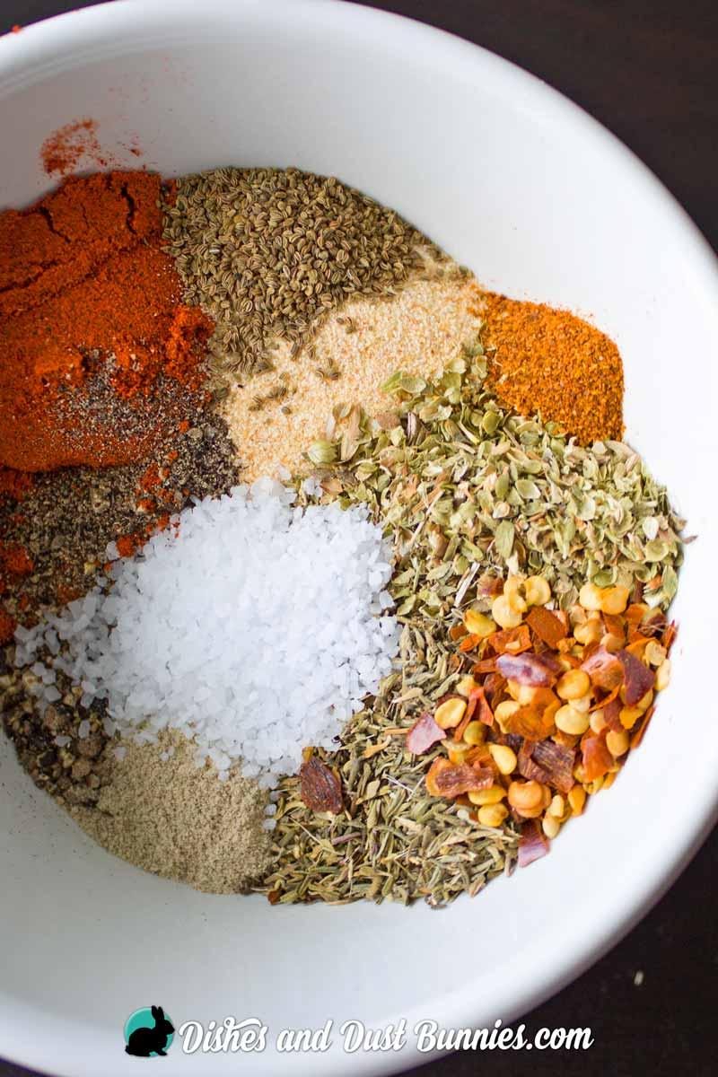 Homemade Cajun Seasoning Mix from dishesanddustbunnies.com