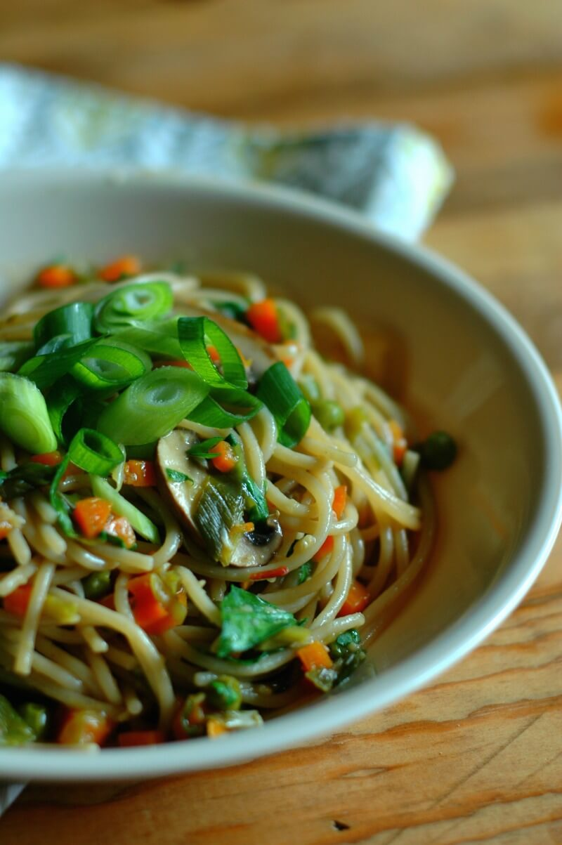 Fast Prep Instant Pot Vegetable Lo Mein from Raising Generation Nourished