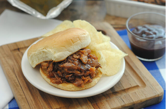 BBQ Pork Sandwich Recipe (Instant Pot Option!) from Craft Create Cook