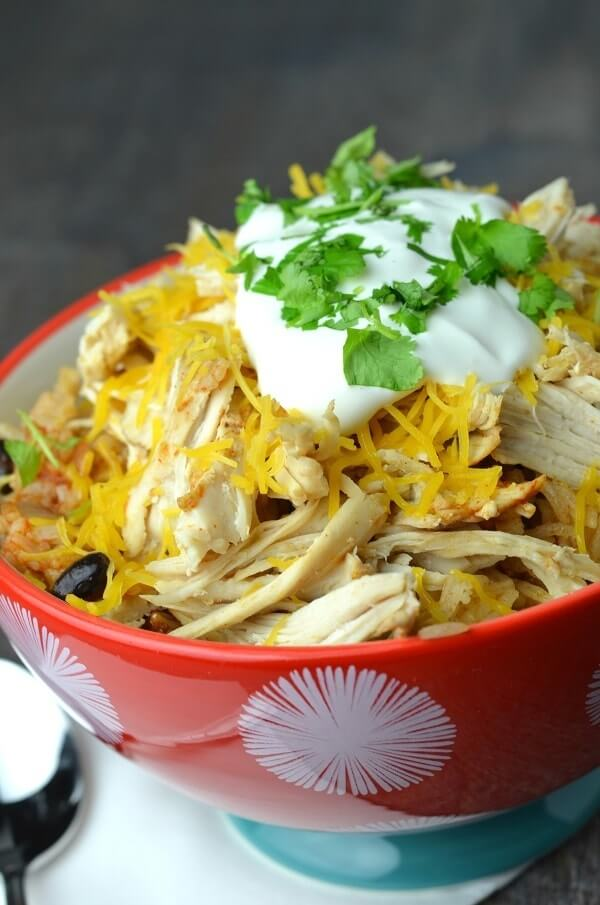 Instant Pot Chicken Taco Bowls from Wondermom Wannabe