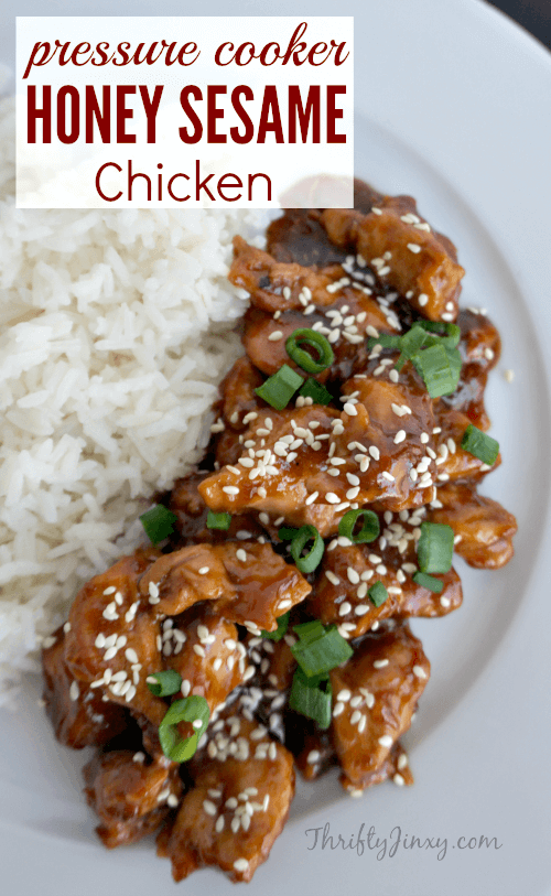 Honey Sesame Chicken from Thrifty Jinxy