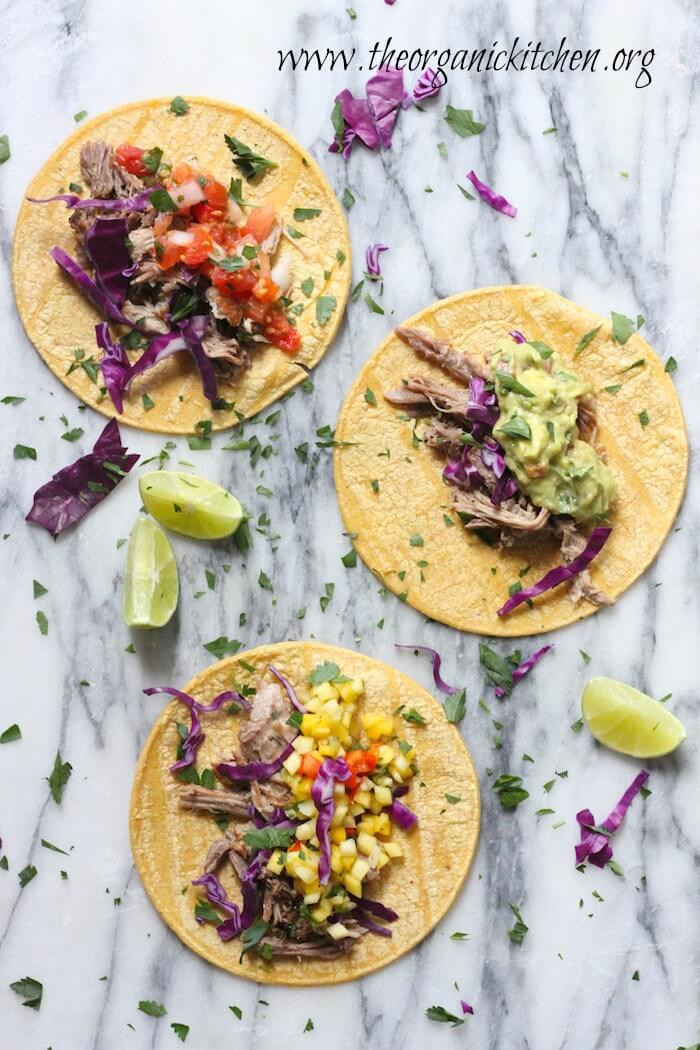 Pulled Pork Tacos (Crock Pot or Instant Pot!) from The Organic Kitchen