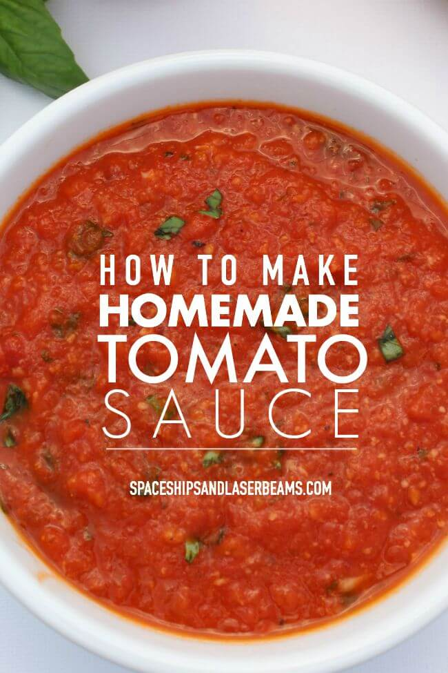 How to Make Homemade Tomato Sauce from Spaceships & Laser Beams