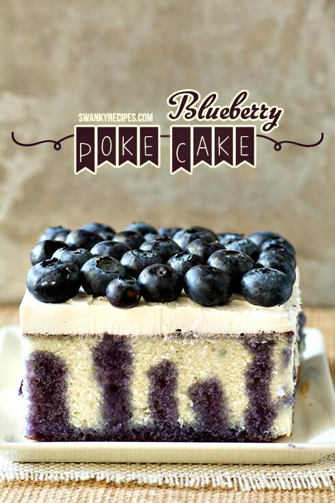 Blueberry Lemon Poke Cake from Swanky Recipes