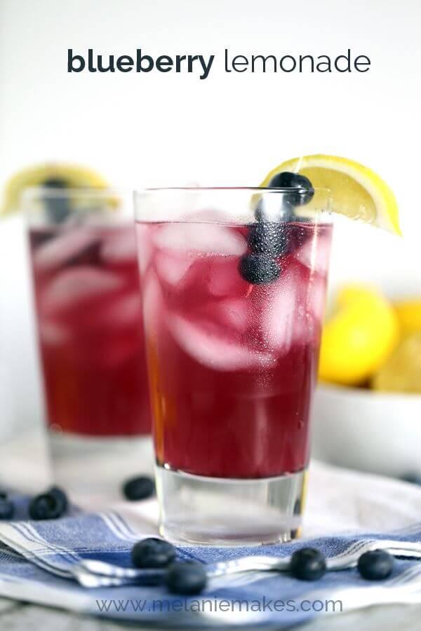 Blueberry Lemonade from Melanie Makes