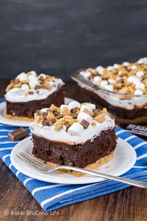 Chocolate S'mores Pudding Cake from Inside Bru Crew Life
