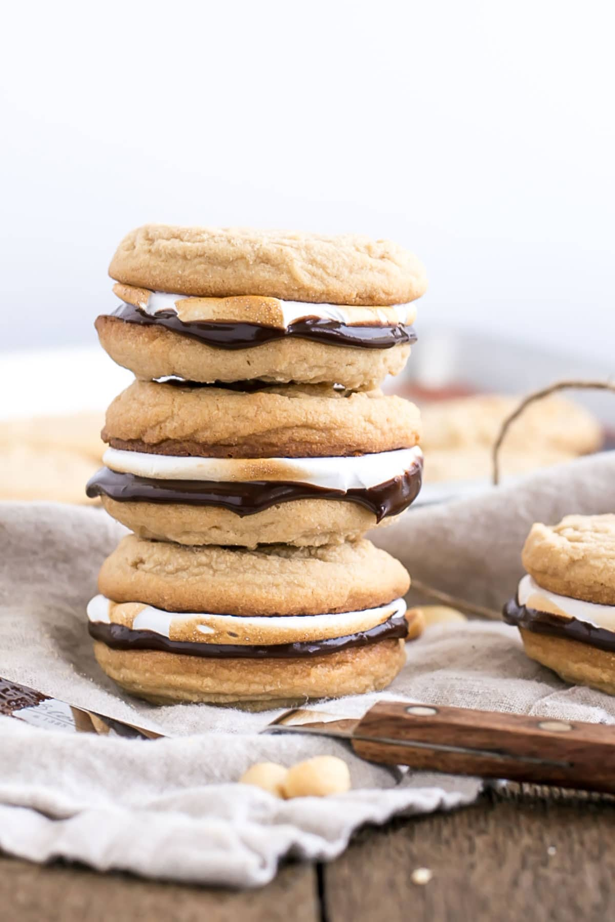 Peanut Butter S'mores Cookies from Liv for Cake