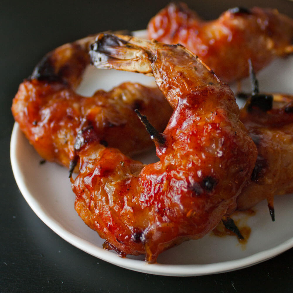 BBQ Bacon Wrapped Shrimp from Dishes & Dust Bunnies