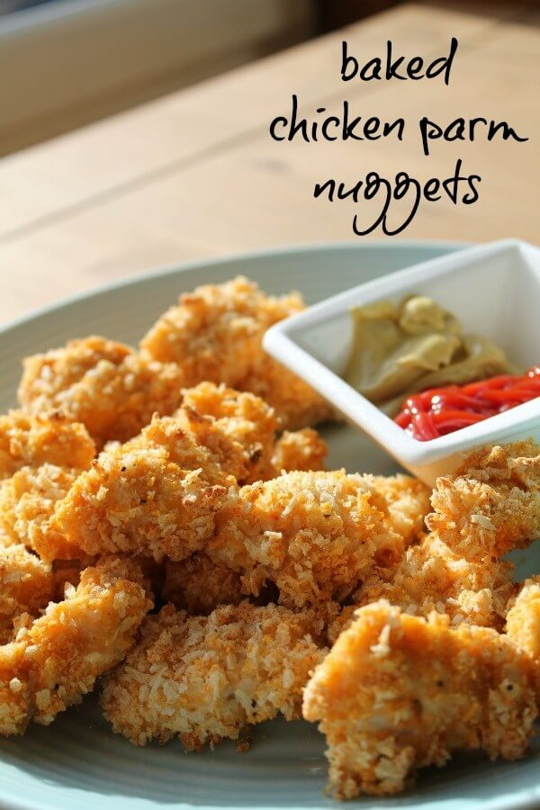 Baked Chicken Parm Nuggets from How to Be Awesome on 20 Dollars a Day