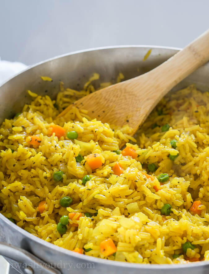 Easy Vegetable Rice Pilaf from I Wash You Dry