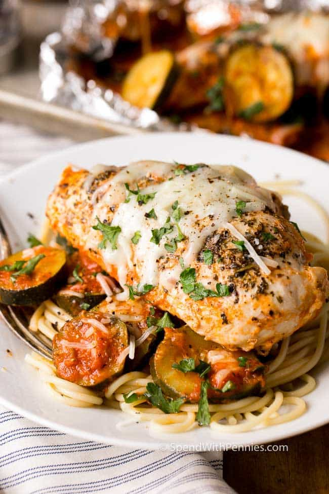 Parmesan Chicken Foil Packets from Spend With Pennies