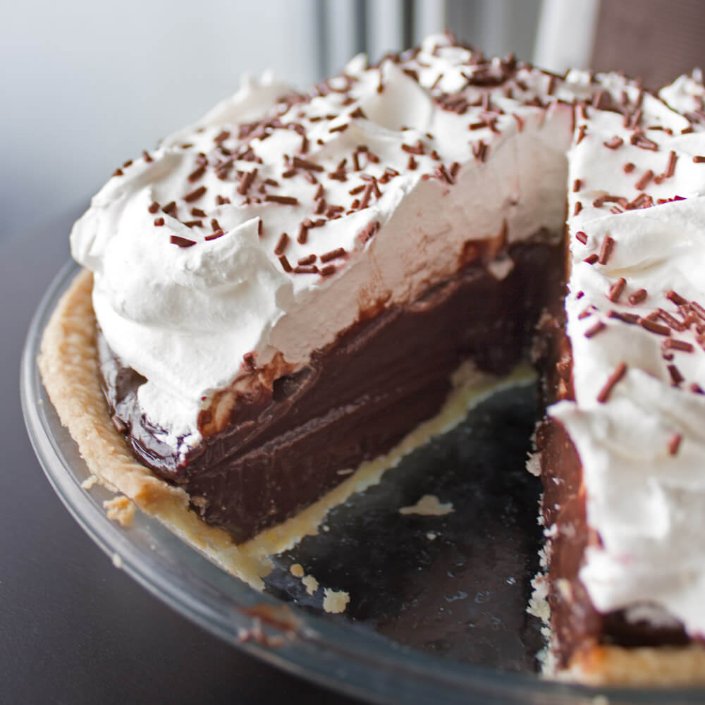 Chocolate Pudding Pie from Dishes & Dust Bunnies