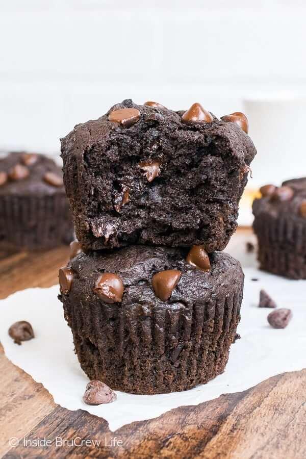 Dark Chocolate Banana Muffins from Inside Bru Crew Life