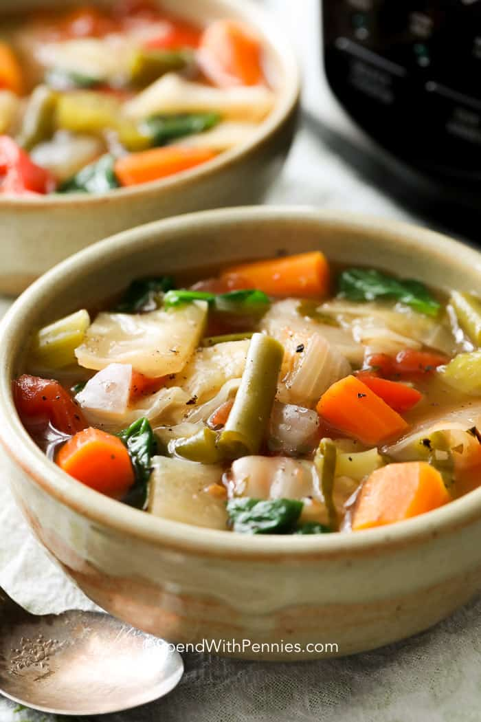 Slow Cooker Cabbage Soup from Spend with Pennies