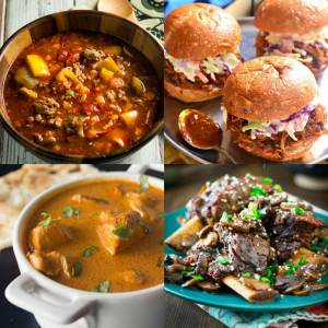 30 Delicious Slow Cooker Recipes - dishesanddustbunnies.com