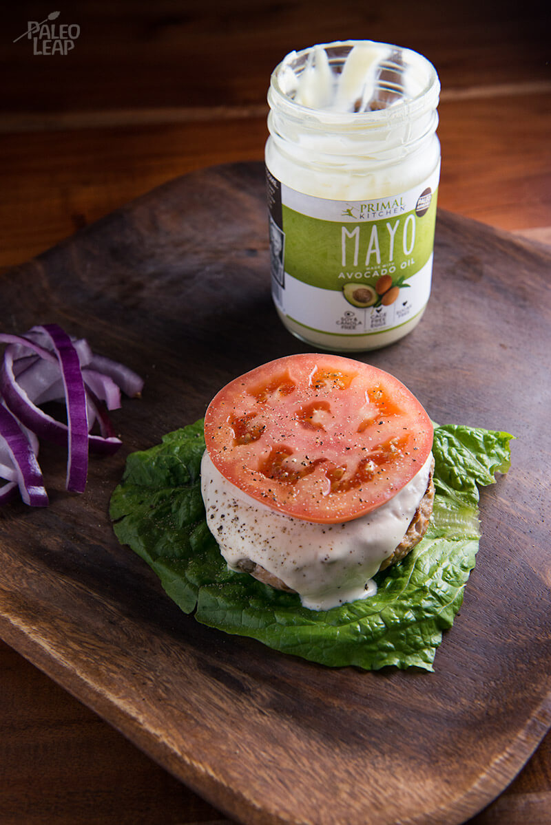 Chicken Caesar Burgers from Paleo Leap