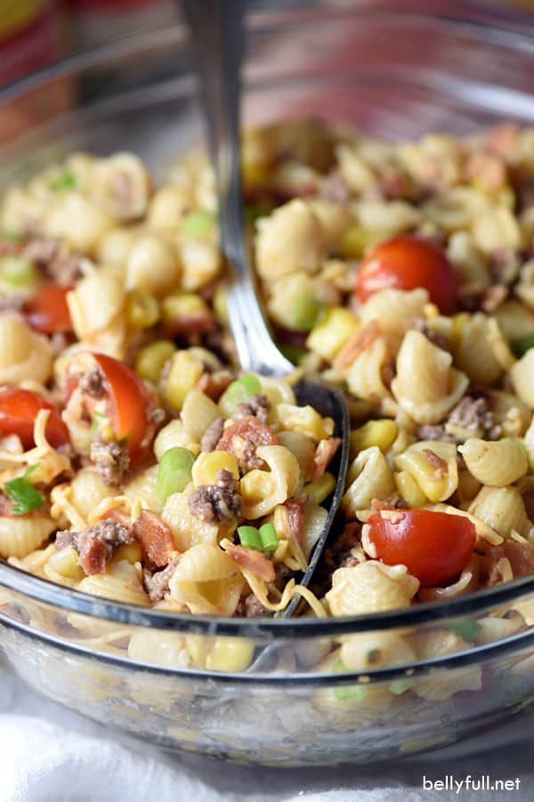 Cowboy Pasta Salad from Bellyfull