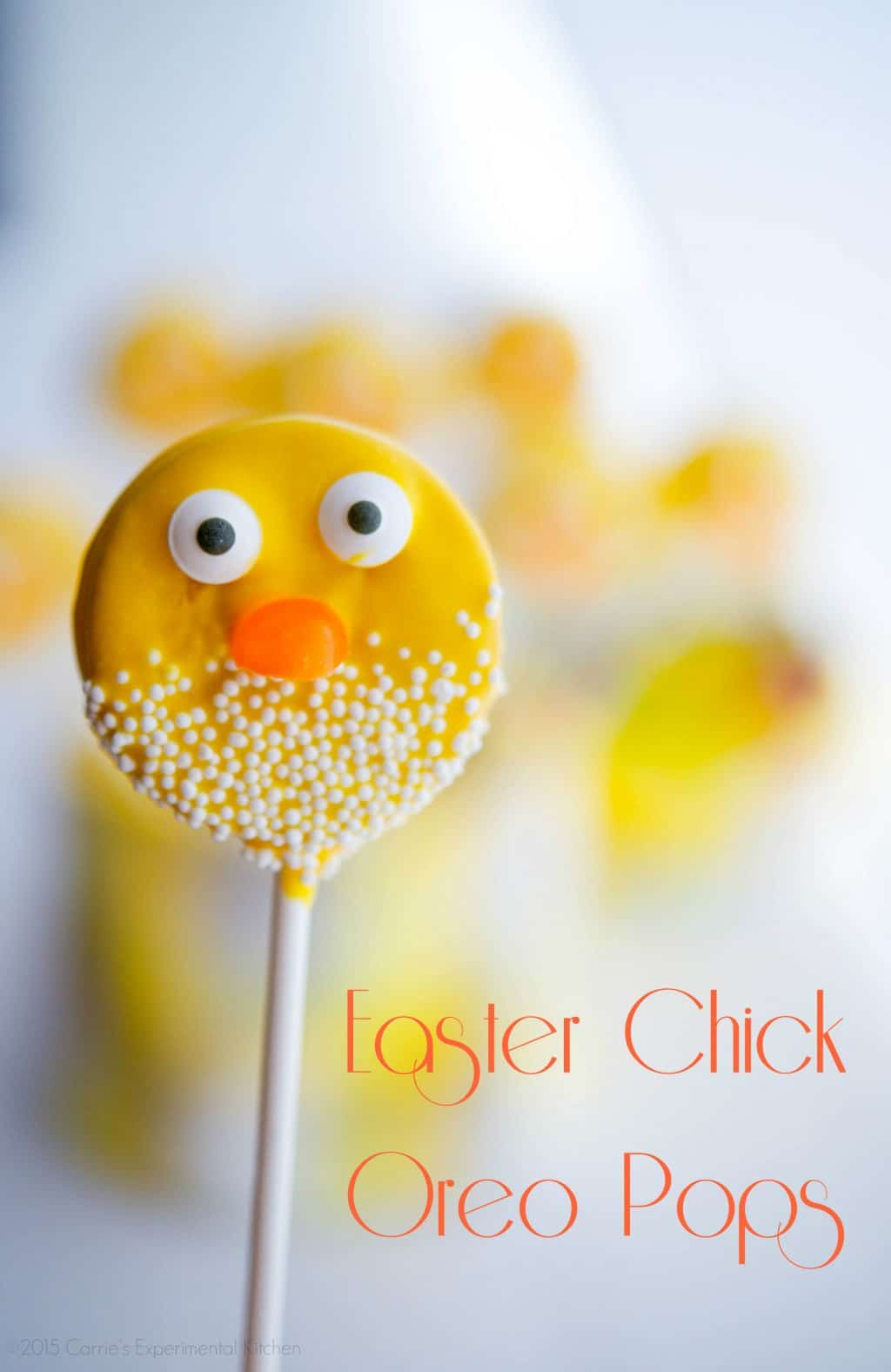 Easter Chick Oreo Pops from Carrie's Experimental Kitchen