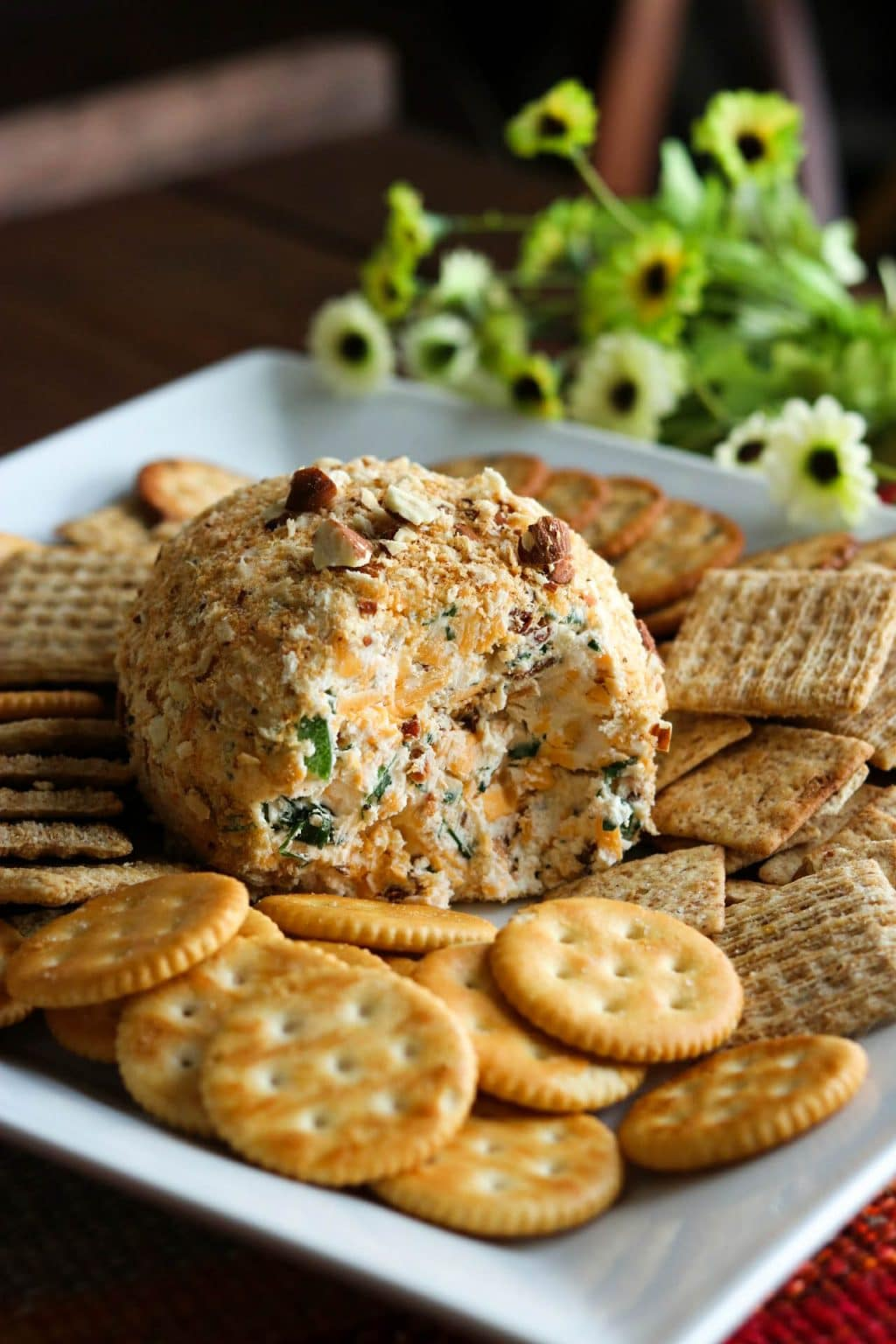 Jalapeno Popper Cheese Ball from Kylee Cooks