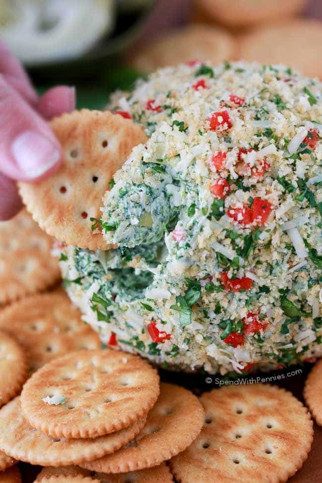 Spinach Artichoke Cheese Ball from Spend with Pennies