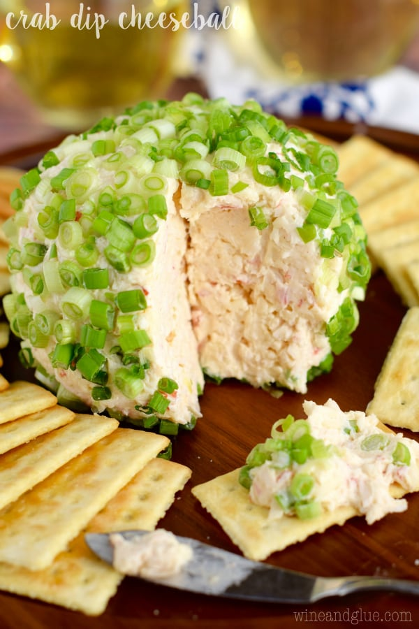 Crab Dip Cheeseball from Wine & Glue