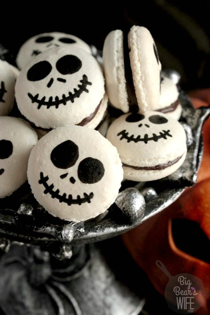 Jack Skellington Macrons from Big Bear's Wife