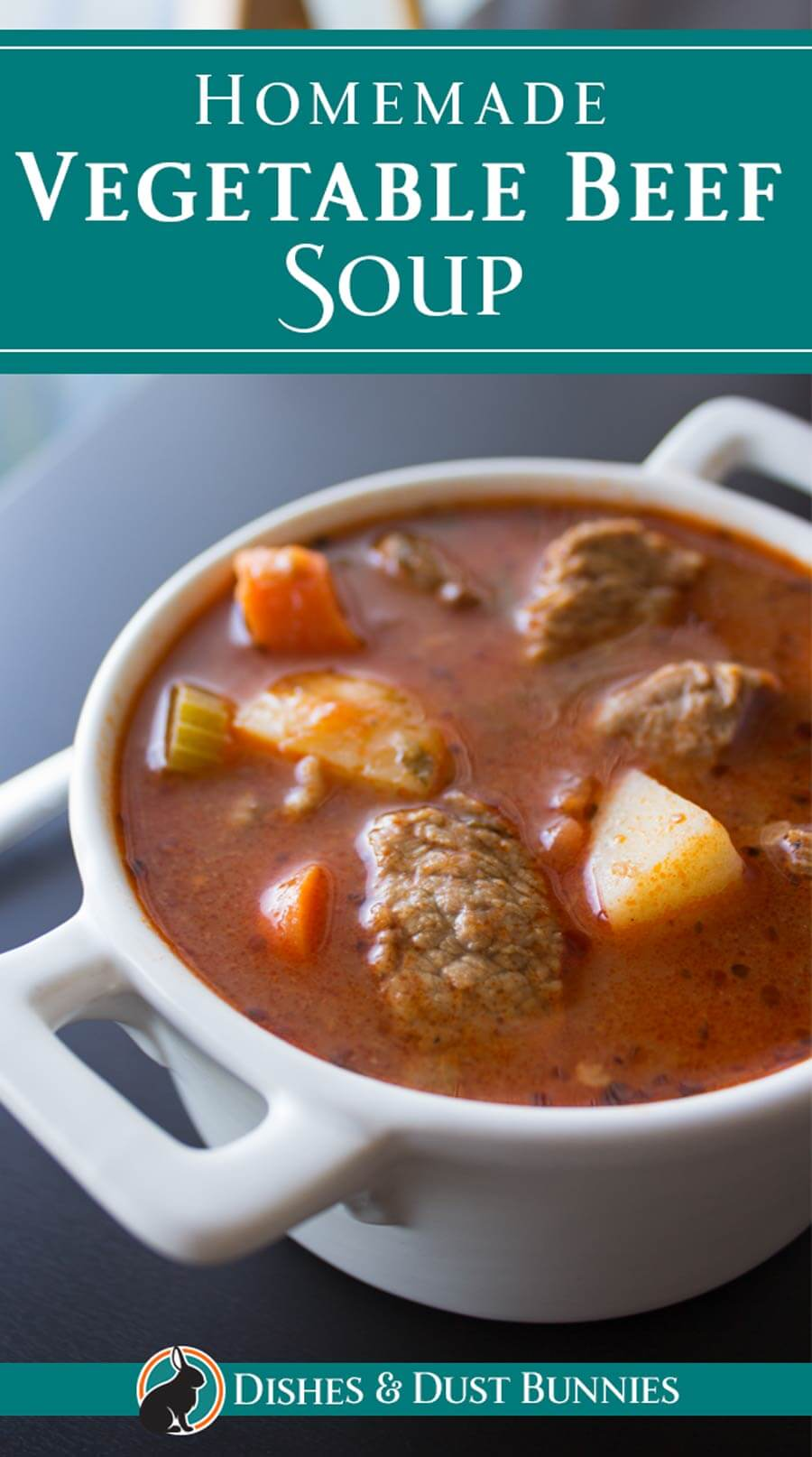 Homemade Vegetable Beef Soup via @mvdustbunnies
