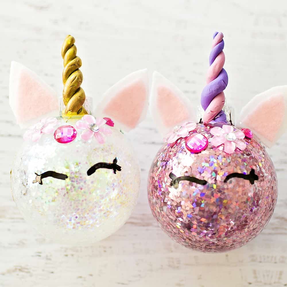 DIY Glitter Unicorn Ornaments from Hello, Wonderful