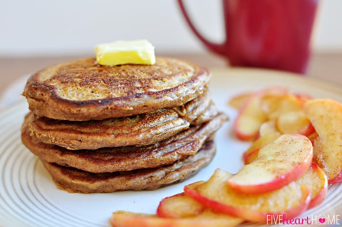 Gingerbread Pancakes from Five Heart Home