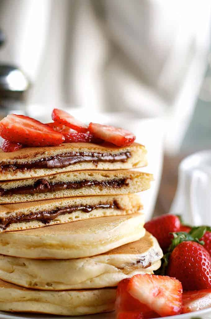 Nutella Stuffed Pancakes from Recipe Tin Eats