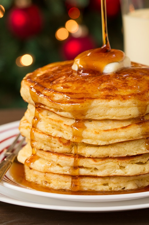 Eggnog Pancakes from Cooking Classy
