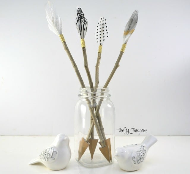 DIY Cupid's Arrow Valentine Decor Craft from Thrifty Jinxy