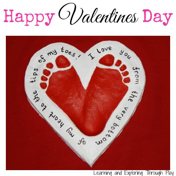 Salt Dough Heart Footprint Keepsake from Red Ted Art